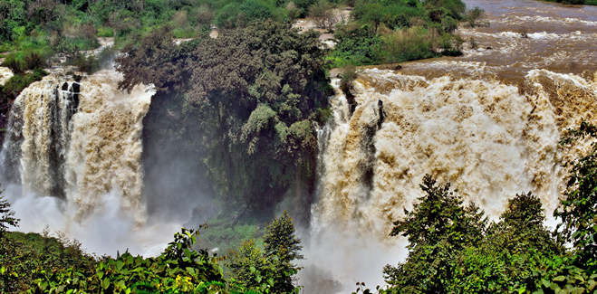 The Blue Nile water falls (Tis Isat Falls)